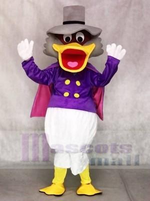 Donald Duck mit Hut und lila Mantel Maskottchen Kostüme Cartoon