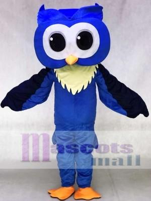 Erwachsene freundlich Groß Blau Eule Maskottchen Kostüme Tier