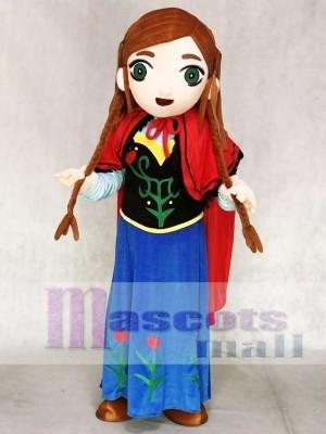Gefrorene Prinzessin Anna Maskottchen Kostüme Cartoon
