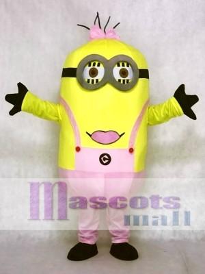 Jämmerliches Ich Rosa Bogen Minions Maskottchen Kostüme