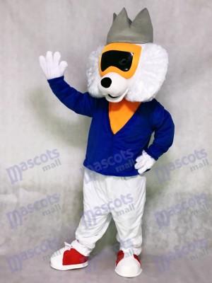 Nette Alley Cat mit blauem Hemd Maskottchen Kostüm