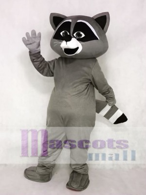 Niedliches graues wildes Waschbär Maskottchen Kostüm Tier