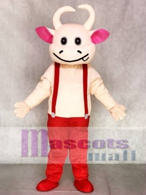 rot Overall Kuh Maskottchen Adult Kostüme Tier