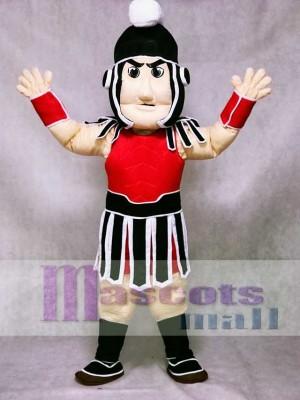 Rot und Schwarz Spartan Trojan Ritter Sparty Maskottchen Kostüm Menschen
