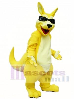 Gelber Känguru Roo mit Sonnenbrille Maskottchen Kostüme Tier