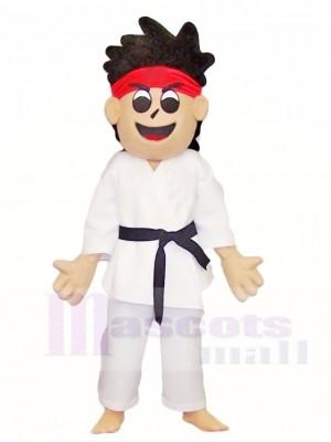 Karate Kid Boy Mascot Costumes People