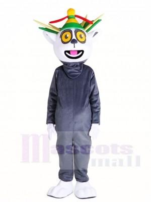 Madagaskar König Julian Lemuroid Lemuridae Affe Maskottchen Kostüme Tier
