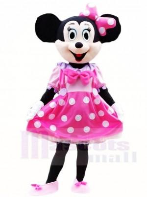 Minnie Maus im rosa Kleid Maskottchen Kostüme Cartoon
