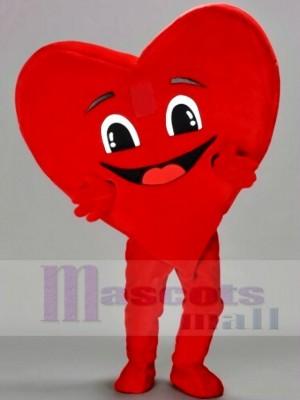 Glücklich Rot Herz Maskottchen Kostüme