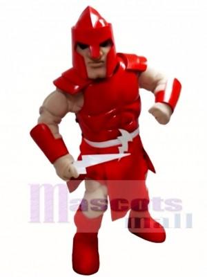 rot Titan Spartaner Trojaner Ritter Krieger Maskottchen Kostüm