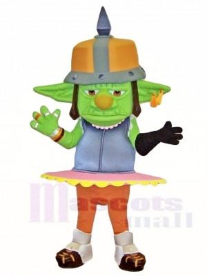 Grün Goblin Maskottchen Kostüme Monster