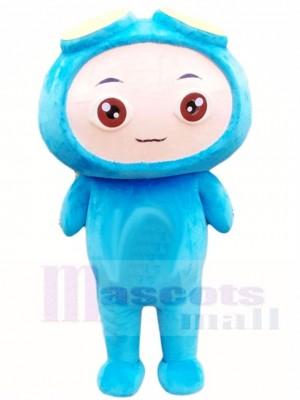 Blau Junge Maskottchen Kostüme Menschen