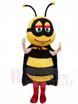 Honigbiene mit Schwarz Kap Maskottchen Kostüme Insekt