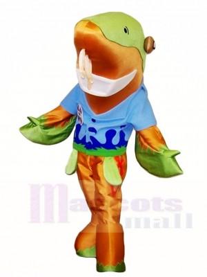Fische und Flossen Sammy das Stör Maskottchen kostümiert Meer
