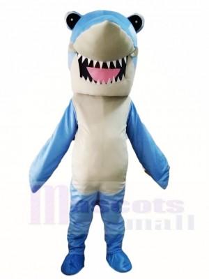 Blaues Hai Maskottchen Kostüm Meer Ozean