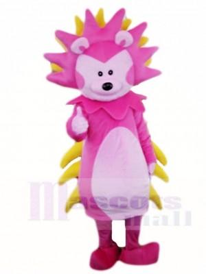 Rosa und gelbes Igel Maskottchen Kostüme Tier