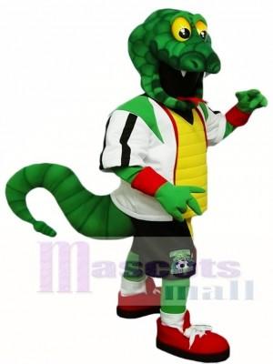 Grüne Schlange Rattlers Maskottchen Kostüme Reptilien