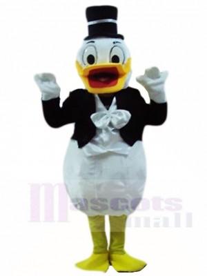 Hochzeit Donald Duck in Smoking Maskottchen Kostüm Karikatur