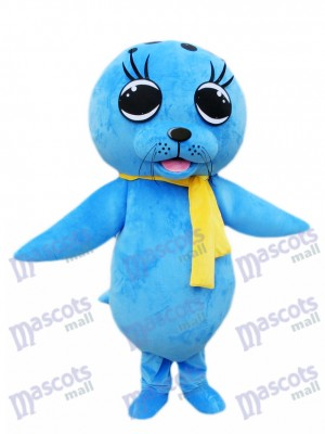 Blaues Seelöwe Siegel Maskottchen Kostüm Ozean