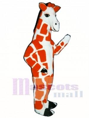 Rote Giraffe Maskottchen Kostüm