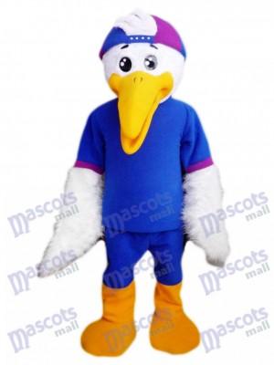 Vogel im blauen Hemd Maskottchen Kostüm Tier