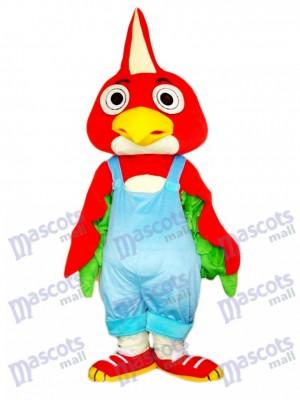 Roter Papageien Vogel Maskottchen Kostüm Tier