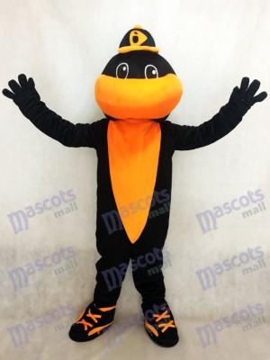 Schwarz und Orange Sport Team Baseball Vogel Baltimore Orioles Maskottchen Kostüm
