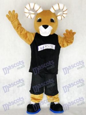 Sport Team Ram Ryerson Maskottchen Kostüm im schwarzen Anzug