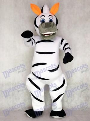 Orange Ohren Madagaskar Zebra Marty Maskottchen Kostüm