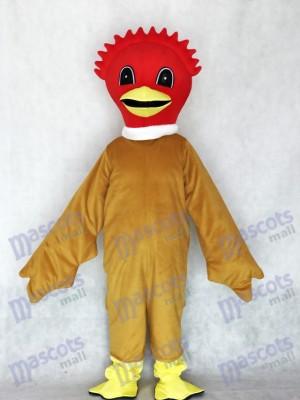 Reizendes Scharlachrot Vogel Maskottchen Kostüm mit Brown Körper Tier