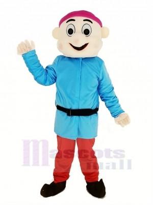 Zwerge mit Blau Mantel Maskottchen Kostüm