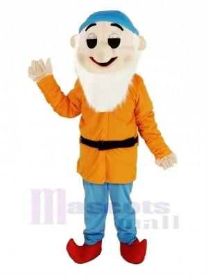 Zwerge mit Orange Mantel Maskottchen Kostüm