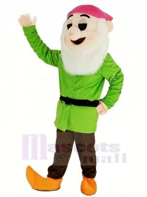 Zwerge mit Grün Mantel Maskottchen Kostüm