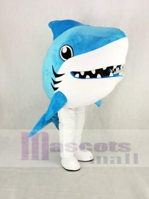 Süß Blau Wal Hai Maskottchen Kostüm Karikatur