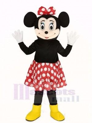 Minnie Mouse im rot Rock Maskottchen Kostüm
