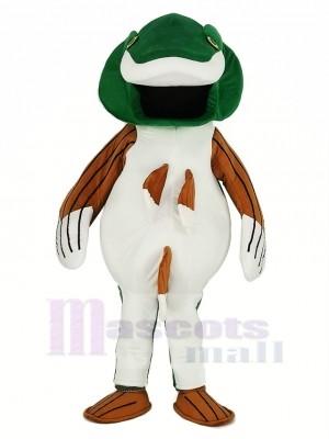 Grün Bass Fisch Maskottchen Kostüm Karikatur
