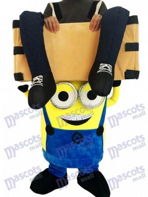 Piggyback Despicable Me Minions Tragen Sie mich Reiten in zwei Augen Minions Maskottchen Kostüm