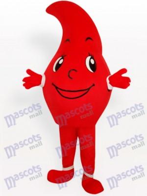 Rot Wassertropfen Party Maskottchen Kostüm für Erwachsene