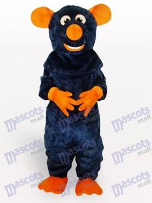 Großer Zahn schwarzes Tier Maus Maskottchen Kostüm für Erwachsene