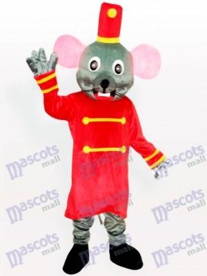 Graue Maus das Torhüter Tier Maskottchen Kostüm