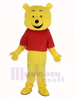 Winnie The Pooh im rot T-Shirt Maskottchen Kostüm Karikatur