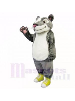 Grau Weiß Hamster Maskottchen Kostüme Tier
