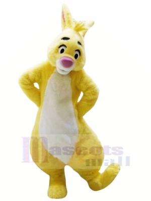 Gelb Hase mit Groß Augen Maskottchen Kostüme Tier