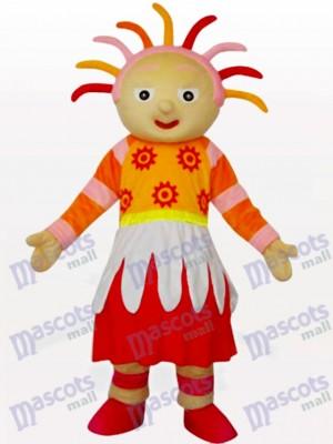 Helles Sonnenschein Mädchen Karikatur Maskottchen Kostüm