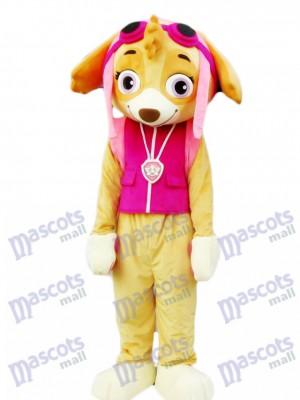 Paw Patrol Skye Maskottchen Kostüm rosa Hund ausgefallene Anzug Cartoon Figur