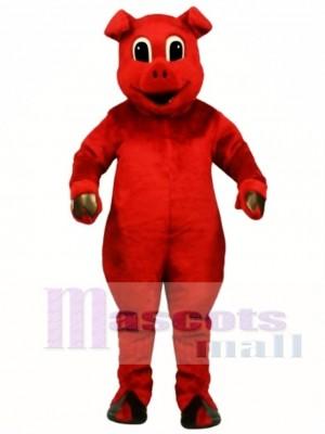 Netter Ruddy Rotes Schwein Maskottchen Kostüm