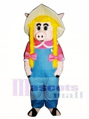 Süßes Sally Sau Schwein Ferkel Schwein Maskottchen Kostüm