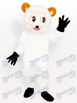 Kleines Schaf Weißes Tier Maskottchen Kostüm für Erwachsene
