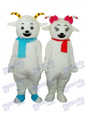 Angenehme Ziege & Schönheit Schaf Maskottchen Erwachsene Kostüm Tier