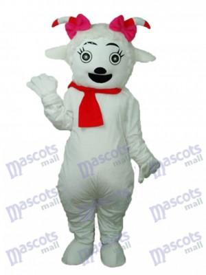 Schönheit Schaf Maskottchen Erwachsene Kostüm Tier